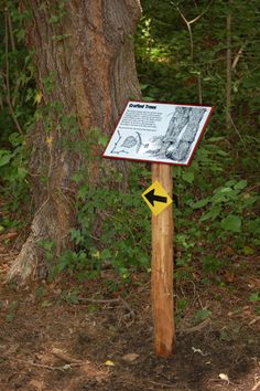 Nature trail signage