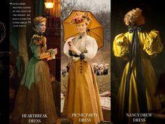 """Crimson Peak: Die Kleider von Mia Wasikowskas Charakter """"Edith Cushing"""" hat Kate Hawley gemeinsam mit ihrem Team entwickelt. Jeder Entwurf spiegelt eine Eigenschaft oder eine Entwicklung wider, die Edith im Laufe des Filmes durchlebt."""