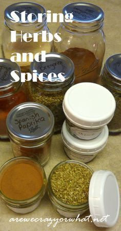 Step by step instructions for storing herbs and spices for long term storage. A look at how long they will last and what which containers work best. #beselfreliant