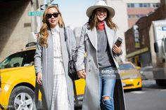 Sisters Dani Song and Aimee Song during New York Fashion Week: Women's…
