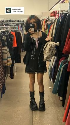 Indie Outfits, Cute Casual Outfits, Fashion Outfits, Indie Clothes, Goth Girl Outfits, Cute Grunge Outfits, Scene Outfits, Fashion Ideas, Fashion Tips