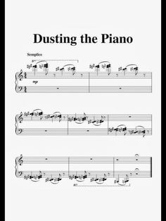 Dusting the piano