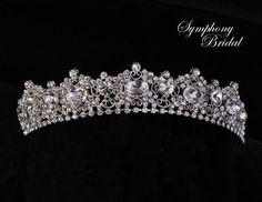 Beautiful Filgree  Tiara by Symphony Bridal 7702CR - Affordable Elegance Bridal -