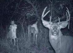 Girl caught on deer cam ~ 25 Creepy Photos