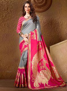 Shop online exclusive Indian designer sarees, bridal saris, wedding sarees, bollywood saris just at single click. Our collection range includes silk sarees, kerala sarees, kanchipuram silk saree, lehenga saree. net and georgette saree. Call us +91-7600477478 or email us info@indianclothstore.com, Book it now!
