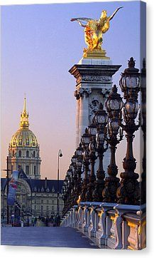 Pont Alexandre 111 And Hotel Des Invalides Canvas Print by Brian Lawrence