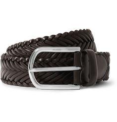 Tod's Brown 3.5cm Woven-Leather Belt   MR PORTER