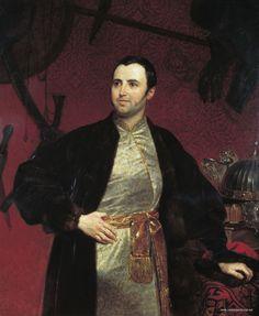Portrait of Prince Mikhail Andreevich Obolenskiy, Karl Bryullov, 1846
