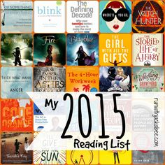 My 2015 Reading List - 30 books in 2015!