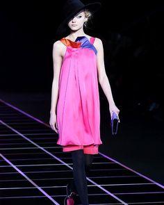 Pretty in Pink: Giorgio Armani dress from Milan Fashion Week