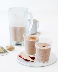 Pear, Oat, Cinnamon, and Ginger Smoothie + 40 more smoothie recipes <3