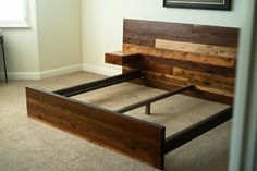 Reclaimed Lumber King Platform Bed // Redwood Fir and by MezWorks, $2695.00