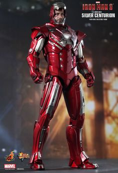Hot Toys : Iron Man 3 - Silver Centurion (Mark XXXIII) 1/6th scale collectible figurine