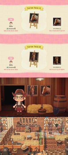 Qr Code Animal Crossing, Animals Crossing, Animal Crossing Villagers, Horse Stalls, Horse Barns, Horses, Motif Acnl, Barn Animals, Motifs Animal