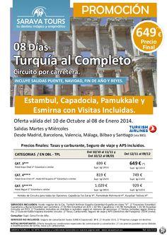Super Oferta Turquía al Completo 8 días (Estambul, Capadocia, Pamuk, Esmirna) 649 € Precio Final - http://zocotours.com/super-oferta-turquia-al-completo-8-dias-estambul-capadocia-pamuk-esmirna-649-e-precio-final/