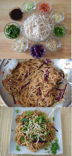Healthy Gluten Free and Vegan Pad Thai. Forget take out, make your own! Easy Peasy!