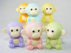 Iwako Pastel Colours Jungle Animals Monkey Japanese Puzzle Erasers from FunArtOnline Iwako Erasers Kawaii Japanese Fun Erasers