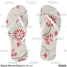 Elegant Abstract Flowers Flip Flops - Durable Thong Style Hawaiian Beach Sandals By Talented Fashion & Graphic Designers - #sandals #flipflops #hawaii #beach #hawaiian #footwear #mensfashion #apparel #shopping #bargain #sale #outfit #stylish #cool #graphicdesign #trendy #fashion #design #fashiondesign #designer #fashiondesigner #style
