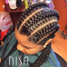 These braids are so neat and pretty @nisaraye ❤️ Gorgeous #dmvstylist #feedinbraids #cornrows #voiceofhair ========================== Go to VoiceOfHair.com ========================= Find hairstyles and hair tips! =========================