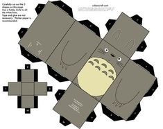 "From the animated film ""My Neighbor Totoro"" by Hayao Miyazaki and Studio Ghibli. Paper Doll Template, Instruções Origami, Sunday School Teacher, Anime Crafts, My Neighbor Totoro, Hayao Miyazaki, Kirigami, Paper Toys, Animation Film"