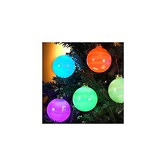 Set of 6 Color-Changing LED Glass Ball Ornament Christmas Lights - Green Wire Christmas Lights Inside, Indoor Christmas Lights, Indoor String Lights, Outdoor Christmas, Christmas Bulbs, Christmas Ideas, Floating Shelves Diy, Ball Lights, Color Changing Led