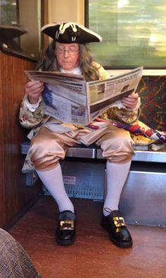 Ben Franklin on the Orange Line #boston