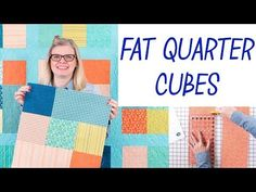 Today I am sharing my Fat Quarter Cubes Quilt – my first ever Quilt Along with Fat Quarter Shop.The Fat Quarter Cubes Quilt pattern is such a quick sew because it features large blocks of onl… Hand Quilting Patterns, Free Motion Quilting, Quilting Tutorials, Quilting Projects, Sewing Projects, Fat Quarter Quilt, Fat Quarter Shop, Fat Quarters, Cubes
