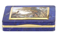 Lapis lazuli snuffbox with micromosaic, mounts Luigi Mascelli, Rome, c. 1820, museum no. 187-1878 | The Victoria and Albert Museum, London