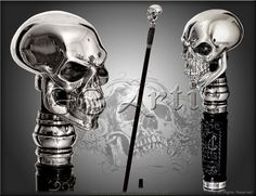 Hey, I found this really awesome Etsy listing at https://www.etsy.com/listing/196500316/skull-walking-stick-gothic-style-authors