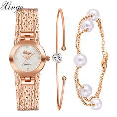 $28.56 (Buy here: https://alitems.com/g/1e8d114494ebda23ff8b16525dc3e8/?i=5&ulp=https%3A%2F%2Fwww.aliexpress.com%2Fitem%2FXG9-22-25%2F32649256941.html ) Xinge Popular Brand Watch Wodmen Dress Bracelet Luxury Wristwatch Gemstone Pearl Classic Rose Gold Jewelry Clock Female Watches for just $28.56
