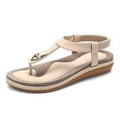 88f5e5504 Socofy Comfortable Elastic Clip Toe Flat Beach Sandals is comfortable to  wear. Shop on NewChic to see other cheap women sandals on sale.