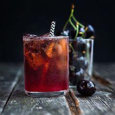 Black Cherry Bourbon Cola Smash