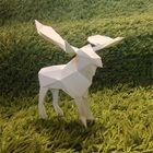 ヘラジカのローポリゴン調ペーパークラフト(無料型紙)Moose