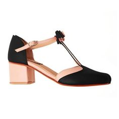 T-Strap Bowknot Summer Casual Chunky Heel Buckle Womens Sandals Ankle Strap Sandals, Strap Heels, Wedge Sandals, Chunky Heels, Chunky Sandals, Black Sandals, Summer Shoes, Fashion Shoes, Women's Fashion