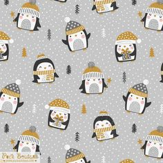 Winter Scarves, Merry Christmas, Xmas, Christmas Illustration, Happy Holidays, Penguins, Character Design, Snow, Cute