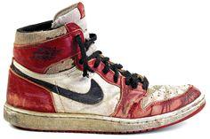Air Jordan I's... not only a basketball shoe but a skateboarding shoe!