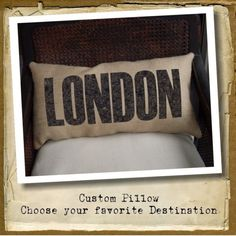 choose your favorite destination pillows