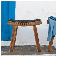 STACKHOLMEN light brown stained, Stool, outdoor, 48x35x43 cm - IKEA Ikea Inspiration, Outdoor Dining Furniture, Garden Furniture, Rattan Furniture, Lounge Furniture, Table And Chairs, Dining Chairs, Patio Chairs, Lounge Chairs