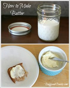 Great Thanksgiving or holiday activity for the classroom! (How to Make Butter Using a Jar)~ BuggyandBuddy.com