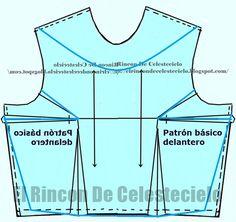 El Rincon De Celestecielo: Types of necklines. Boat neckline, eyelet or tray… Dress Sewing Patterns, Sewing Patterns Free, Clothing Patterns, Types Of Necklines, Pattern Drafting, Blouse Styles, Sewing Hacks, Athletic Tank Tops, Crop Tops