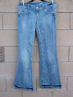 """American Eagle Outfitters Jeans 12 Regular Distressed 32"""" length #AmericanEagleOutfitters #WideLeg"""