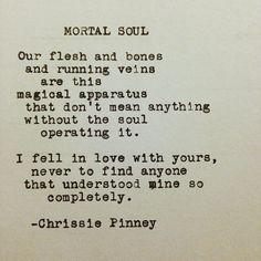 Mortal Soul.