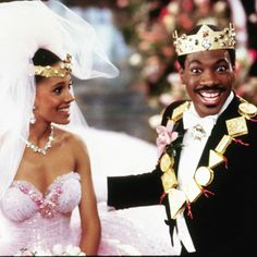 Coming to America - I've always loved how excited he looked when he found out it was her under the veil