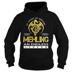 Cool MEHLING An Endless Legend (Dragon) - Last Name, Surname T-Shirt Shirts & Tees