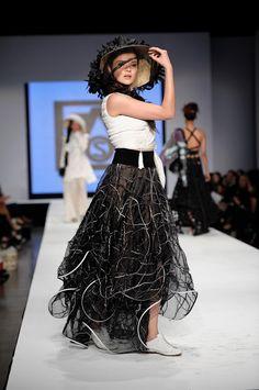 Black Leaf Hat created by Elaine Scantlen for Miami Fashion Week AOS 2013