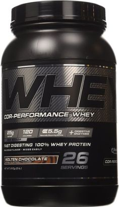Cellucor Cor-Performance 100% Whey Protein Powder with Whey Isolate, Molten Chocolate/G4, 2 Pound