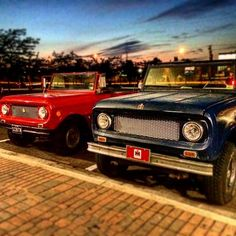 Kinda got the red white and blue thing going on. International Scout