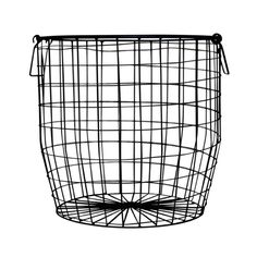 Attrayant Down To The Woods Wire Basket Large Black