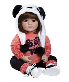 Loving this Playful Panda Baby Doll on #zulily! #zulilyfinds