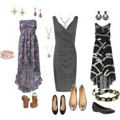 """Three SN Dress Styles"" by brigadoonski on Polyvore"